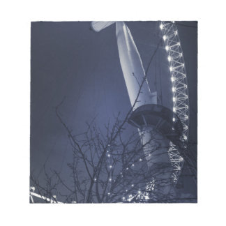 Black and white side of london eye notepad