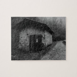 Black and White Silent Hill Oil Painting Puzzle
