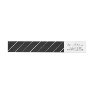 Black and White Simple and Elegant Wrap Around Label