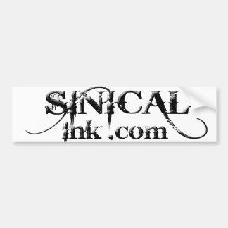 Black and White Sinical Ink.com Bumper Sticker