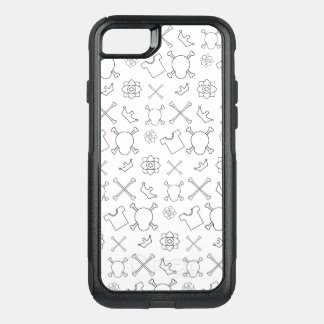 black and white Skull and Bones pattern OtterBox Commuter iPhone 8/7 Case