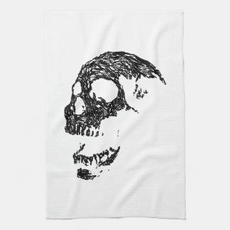 Black and White Skull Design. Kitchen Towel