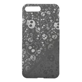 black and white skull heads iPhone 7 plus case