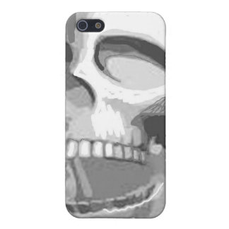 Black and white skull iPhone 5 case