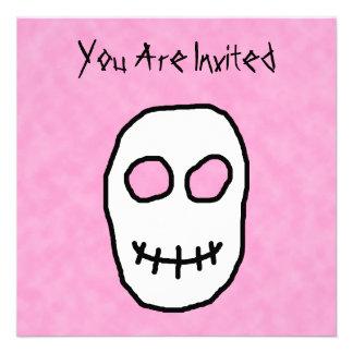 Black and White Skull Primitive Style Personalized Invite