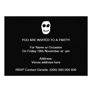 Black and White Skull Primitive Style Custom Announcement