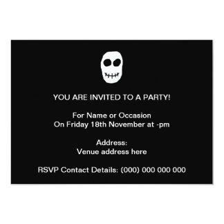 Black and White Skull. Primitive Style. Custom Announcement