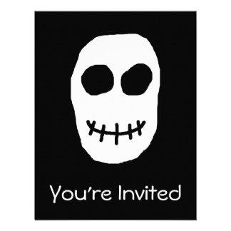 Black and White Skull Primitive Style Invitation