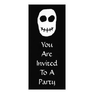 Black and White Skull Primitive Style Invites