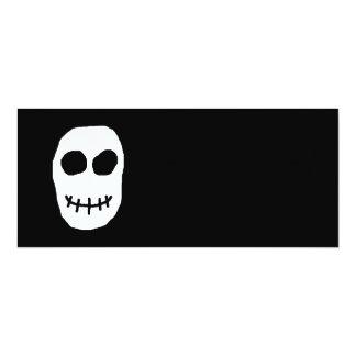 Black and White Skull. Primitive Style. Personalized Invitation