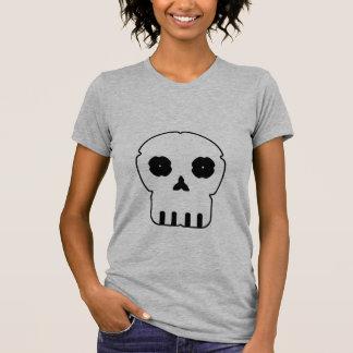 Black and white skull v3 tee shirt