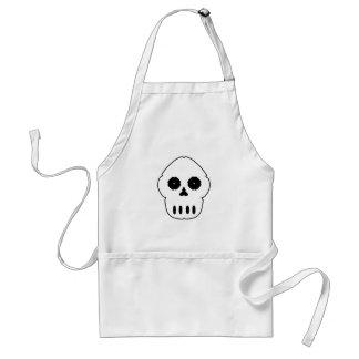 Black and white skull v4. adult apron