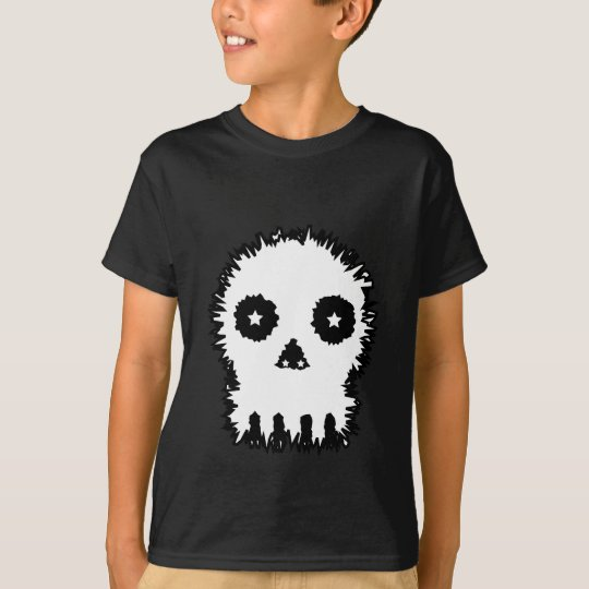 Black and white skull v6. T-Shirt