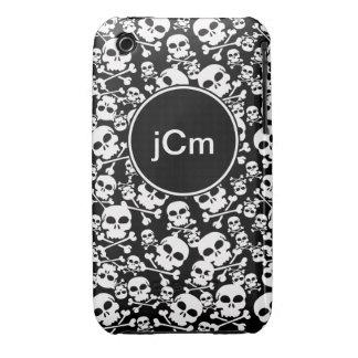 Black and White Skulls Custom Phone Case iPhone 3 Cover