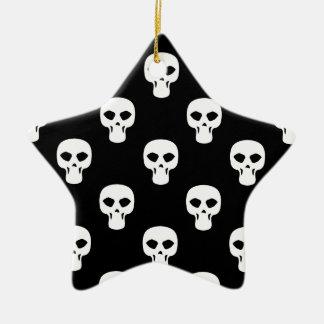 Black and White Skulls Pattern Christmas Ornament