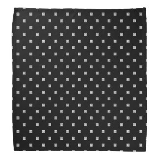 Black and White Small Geometrical Pattern Bandana