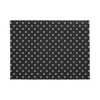 Black and White Small Geometrical Pattern Doormat