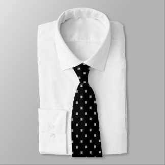Black and White Small Geometrical Pattern Tie