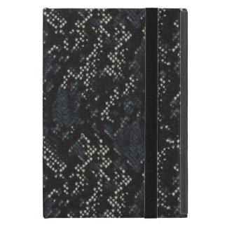 Black and White Snake Skin iPad Mini Case