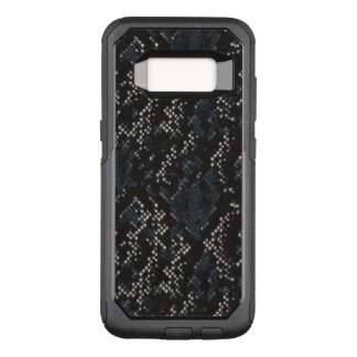Black and White Snake Skin Pattern OtterBox Commuter Samsung Galaxy S8 Case