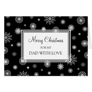 Black and White Snow Dad Merry Christmas Card
