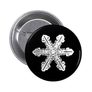 Black and White Snowflake Button