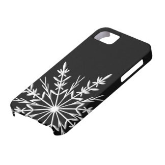 Black and White Snowflake Case For The iPhone 5
