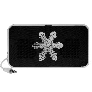 Black and White Snowflake Speakers