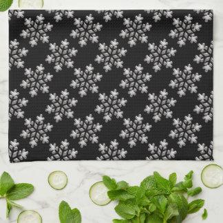 Black And White Snowflakes Christmas Holiday Xmas Kitchen Towel