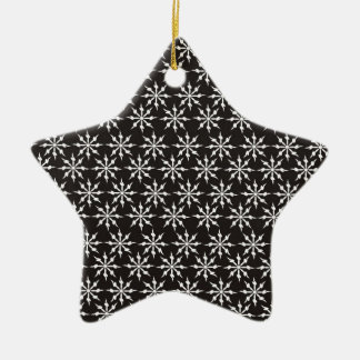 Black and White Snowflakes Christmas Ornament