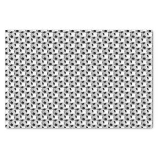 "Black and White Soccer Ball 10"" X 15"" Tissue Paper"