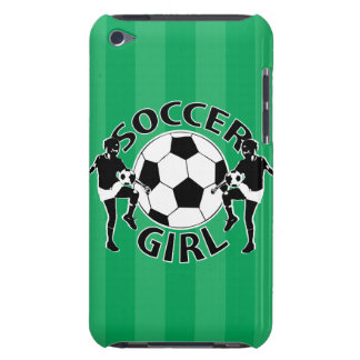Black and white soccer girl design iPod touch case