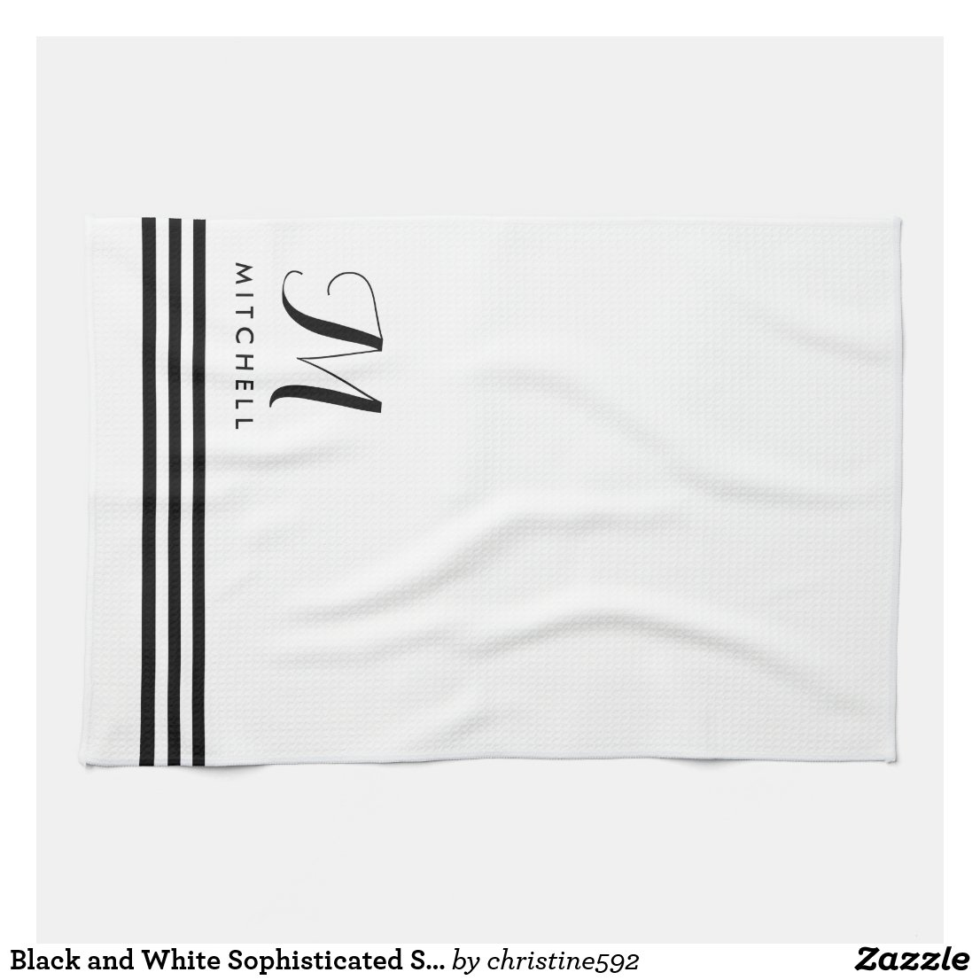 Monogram Tea Towel