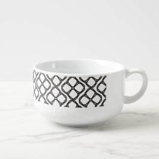 Black and White Soup Mug