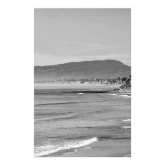 Black and White South Carlsbad beach Stationery