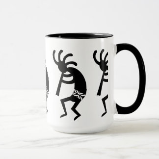 Black And White Southwest Kokopelli Mug