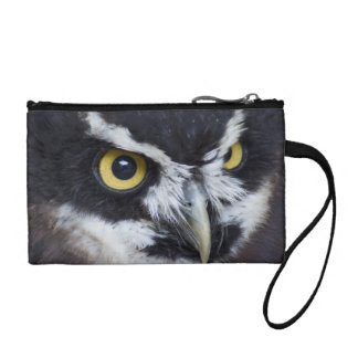 Black and White Specacled Owl Coin Purse
