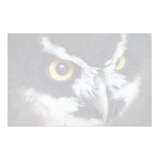 Black and White Specacled Owl Stationery