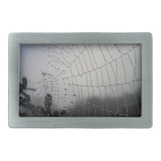 Black and White Spider Web Belt Buckle
