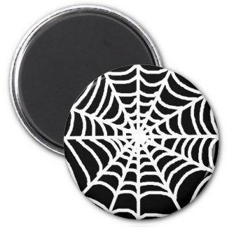 Black and white spider web magnets