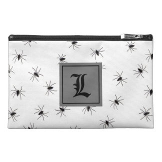 Black and White Spider With Monogram Travel Accessory Bag