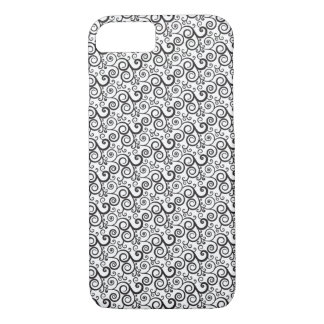 Black And White Spiral Design - iPhone 7 Case