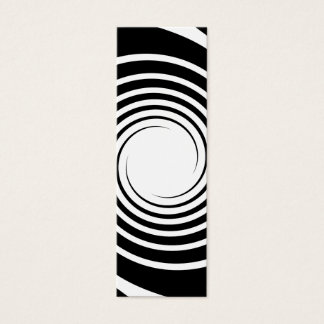 Black and White Spiral Design. Mini Business Card