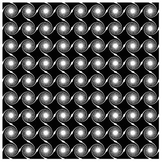 Black and White Spirals Pattern. Photo Cut Out