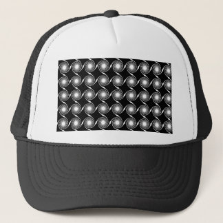 Black and White Spirals Pattern. Trucker Hat