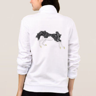 Black and White Splash Frame Paint Horse