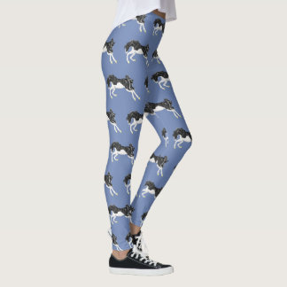 Black and White Splash Frame Paint Horse Leggings