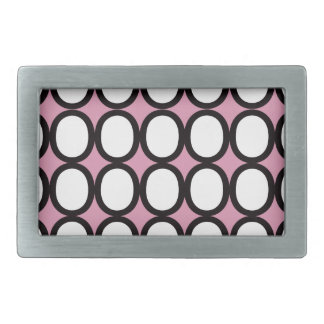 Black and White Splash of O's With Pink Belt Buckle