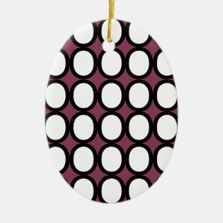 Black and White Splash of O's With Purple Christmas Ornament