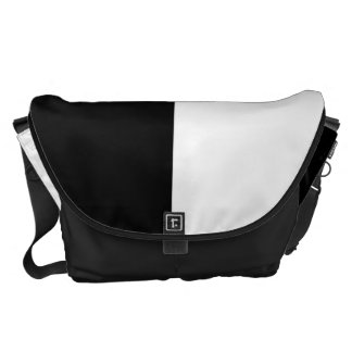 Black and White Split Color Commuter Bags